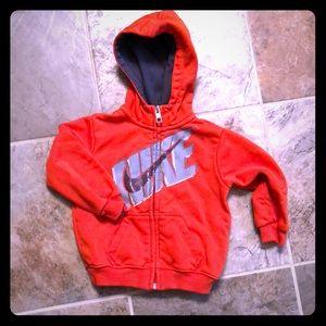 Nike zip up hoodie 18mos
